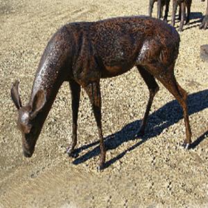 Doe Deer Grazing Garden Statue A9011 2