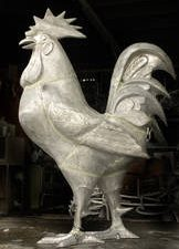 Giant Rooster Lawn and Garden Statue