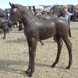 Standing Colt Metal Lawn and Garden Statue