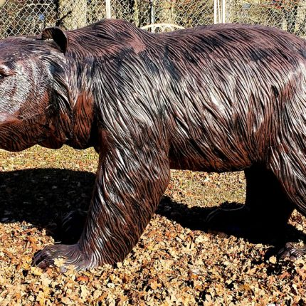 Grizzly Bear Statue Walking