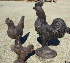 Large Rooster Lawn and Garden Statue