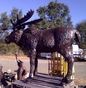Moose Lawn and Garden Statue