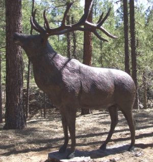 Mountain Elk Bugling Lawn and Garden Statue