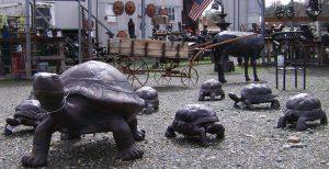 Tortoise Turtle Statues | Poor Man's Bronze Recycled Yard Art