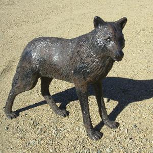 Wolf Standing Garden Statue A0049