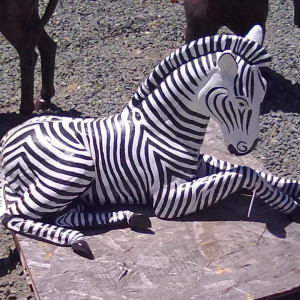 Lying Zebra Lawn and Garden Statue