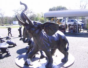 Elephant Metal Gardn Statue