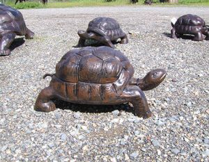 Medium Tortoise Metal Garden Statue