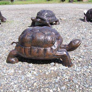 Medium Tortoise Metal Garden Statue
