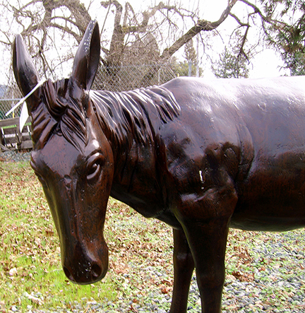Recycled Metal Donkey Garden Statue 2