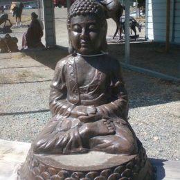 Buddah Metal Garden Statue