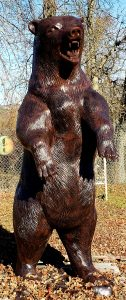grizzly-bear-statue-standing-growling