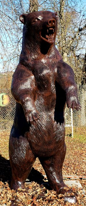 Grizzly Bear Statue Standing