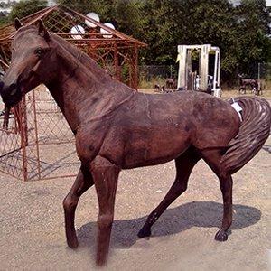 Metal Arabian Horse Garden Statue