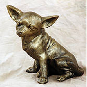 sitting-Chihuahua-metal-graden-statue