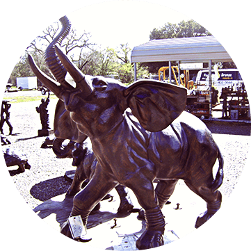 Poor Manu0027s Bronze Sells An Eclectic Collection Of Treasures, Mainly  Recycled Cast Aluminum Statues With A Wide Range Of Metal Yard Art For Sale.