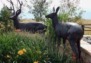 Metal Deer Yard Statues