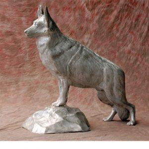 Shepard on stone
