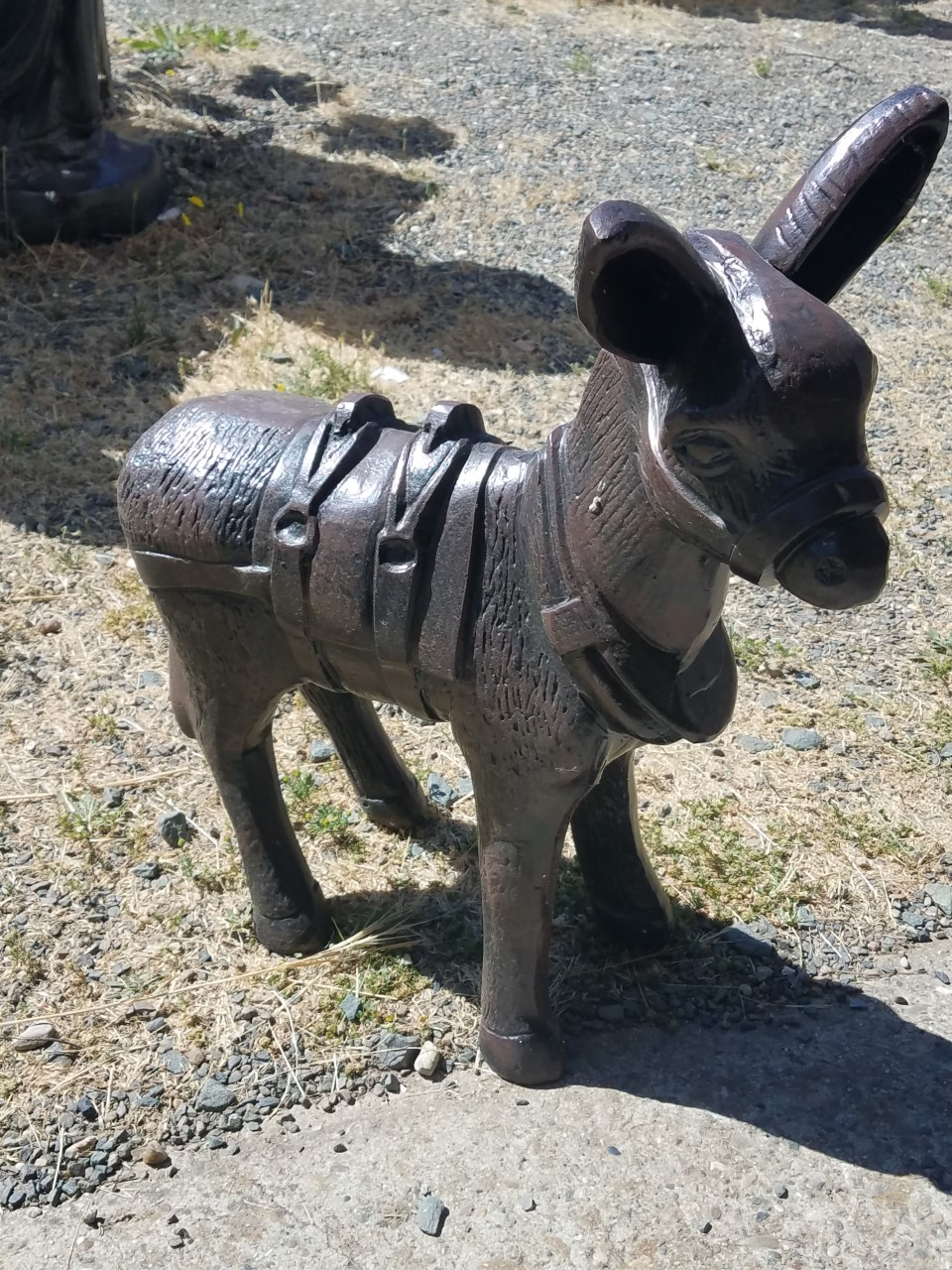 Small Metal Donkey Desk Or Garden Statue