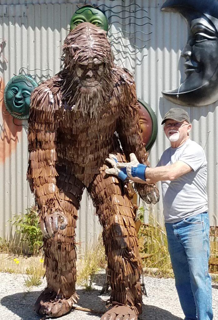 Bigfoot Sheet Metal Garden Statue And Yard Art Poor Man