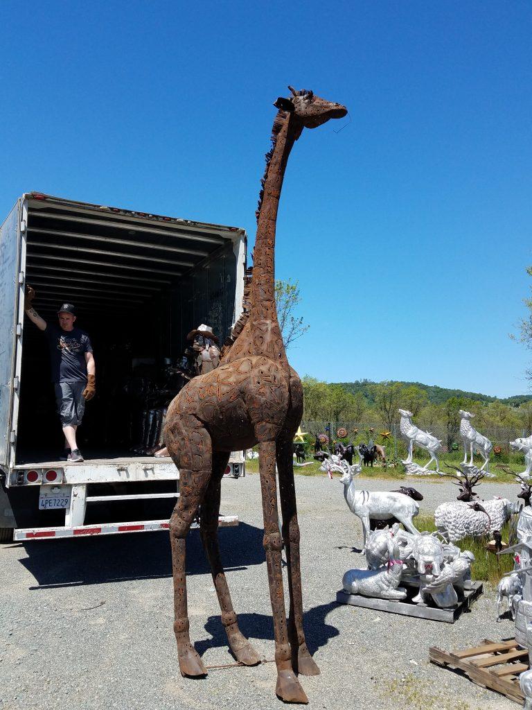 Ram For Sale >> Giraffe, Tall, Sheet Metal Garden Statue & Yard Art | Poor ...