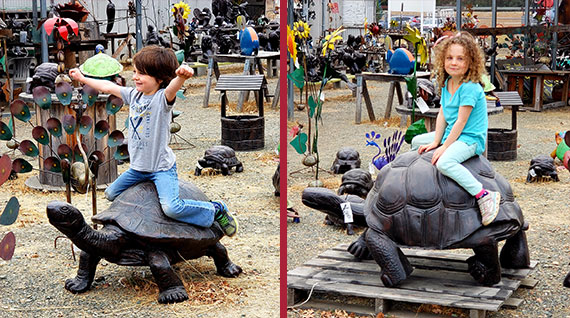 statues-kids-turtle
