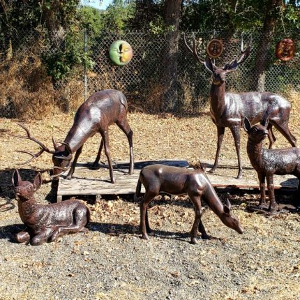 7 Piece Deer Statue Package