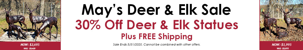 May's Deer & Elk Sale 30% Off