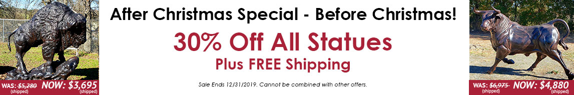 30 percent off all statues plus free shipping