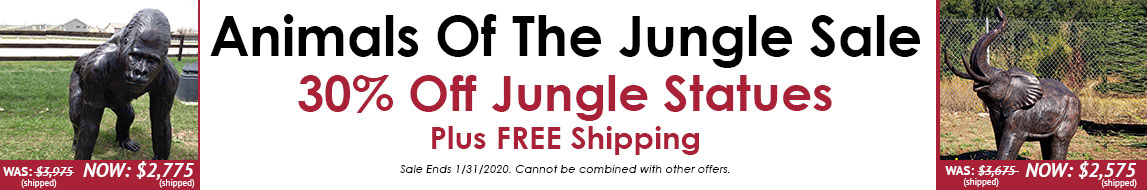 January 2020 Jungle Animal Statue Sale