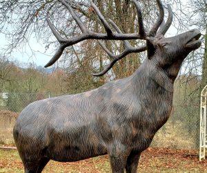 Bugling-Elk-Metal-Statue
